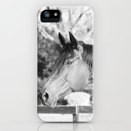 Autumn in Black & White iPhone Case