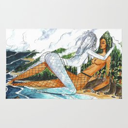 PNW Fishnets - Earth and Sky Goddess Kiss Painting Rug