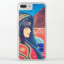 Balqees Alyemen Clear iPhone Case