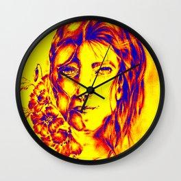 Drop the mask (II) Wall Clock