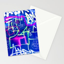 Blue Mood with Pink Language Stationery Cards