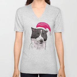 Merry Christmas from My Dog Unisex V-Neck