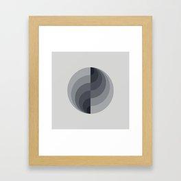 Marble Gray Globe LT Framed Art Print