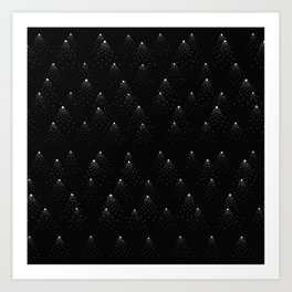poppy seed dot pattern Art Print