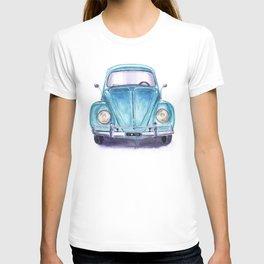 Vintage blue car T-shirt