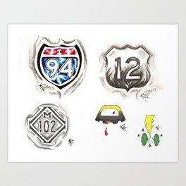 Flash Sheet 0012 Art Print