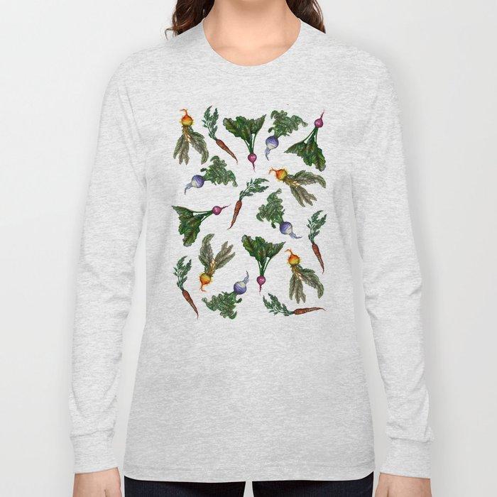 Watercolor Veggies Long Sleeve T-shirt
