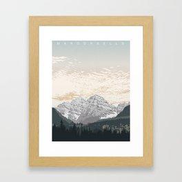 Maroon Bells Framed Art Print