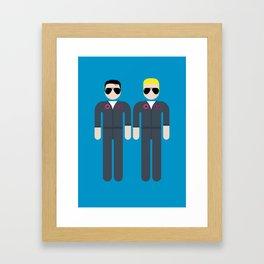 Maverick & Tom Framed Art Print