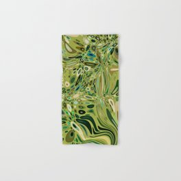 SOYLENT textured abstract in shades of green - lime to emerald Hand & Bath Towel
