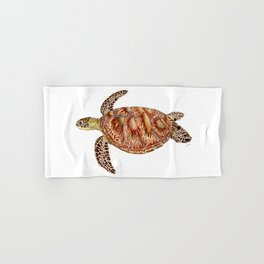 Green turtle Chelonia mydas Hand & Bath Towel