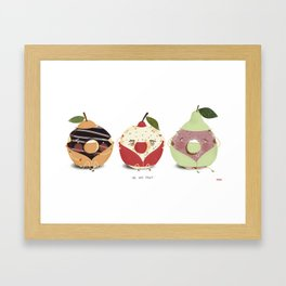 Fruity Donuts Framed Art Print