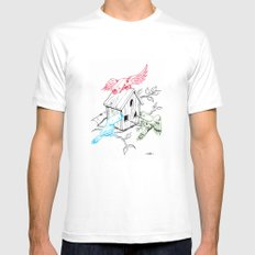 RGBirds Mens Fitted Tee White MEDIUM