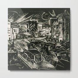City Lights by James Lesesne Wells Metal Print