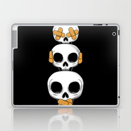 Cute Skulls No Evil II Laptop & iPad Skin