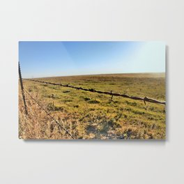 Barb Wire Metal Print