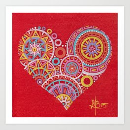 Heart is Colorful Art Print