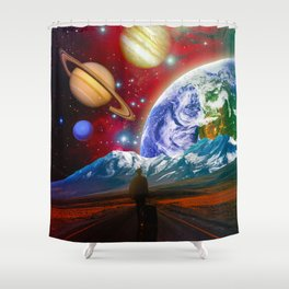 The Hitchhiker Shower Curtain