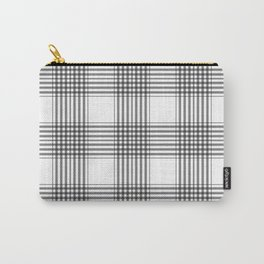 Gray & White Plaid Carry-All Pouch