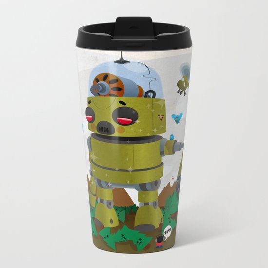 Monster robot toy Metal Travel Mug