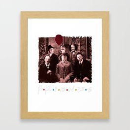 Friends IT Spooky Clown Jason Squad Halloween Horror Framed Art Print