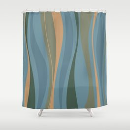 Blueprint Wavy Pattern 2 Shower Curtain
