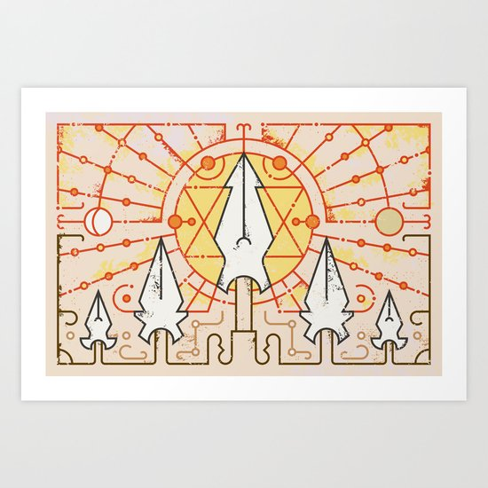 Sun Stands Still (by Alex Griendling) Art Print