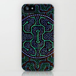 Song to protect the home - Traditional Shipibo Art - Indigenous Ayahuasca Patterns iPhone Case