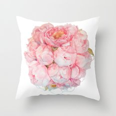 Tender bouquet Throw Pillow