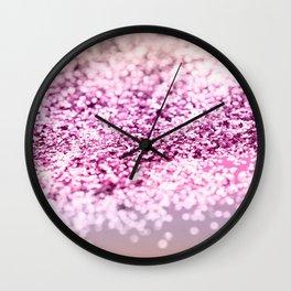Unicorn Girls Glitter #7 #shiny #decor #art #society6 Wall Clock