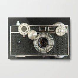 Vintage Range finder camera. Metal Print