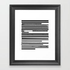 Alternate Facts (Cyrillic) Framed Art Print