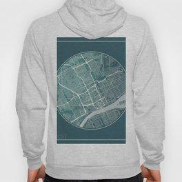 Detroit Map Planet Hoody