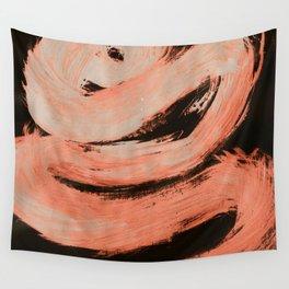 Zig Zag, Abstract, Orange Flamingo Wall Tapestry