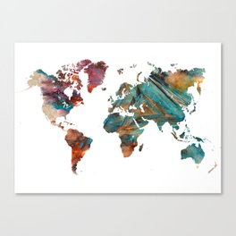 Map of the World triangle Canvas Print