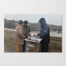 Christmas in Paris Canvas Print