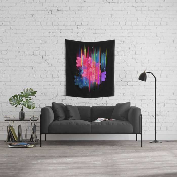 Night Blooming Bouquet Wall Tapestry