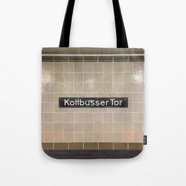 Berlin U-Bahn Memories - Kottbusser Tor U8 Tote Bag