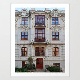 Beautiful architecture in Brno Art Print