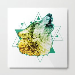 triangle wolf Metal Print