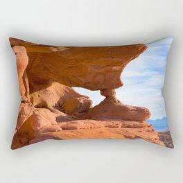 Red Rock Pillars Rectangular Pillow