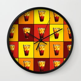 Ice Cold Drink Wall Clock