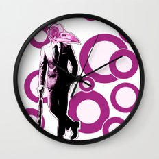 Gentlemen, We got a dead one here.. pink version Wall Clock