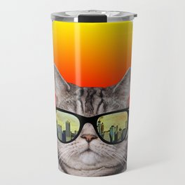 funny cat gifts/i love cats/music gift Travel Mug