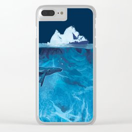 In the deep (iceberg) Clear iPhone Case