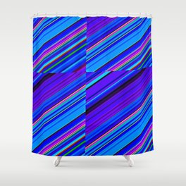 Re-Created Cross No. 7 by Robert S. Lee Shower Curtain