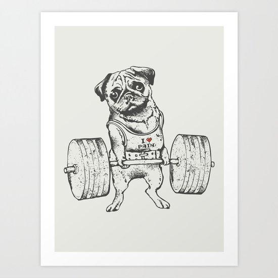 Pug Lift Art Print