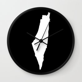 Israel map Wall Clock