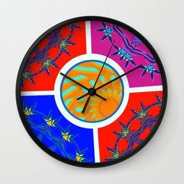 Medicine Wheels Wall Clock