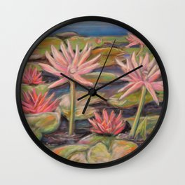 Lilies Galore Wall Clock